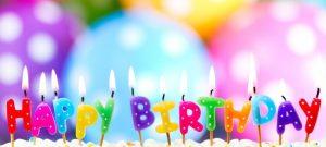 Polka Dot Balloons and Birthday Candles