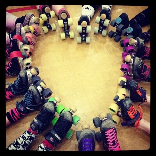 Roller Skates in a heart shape
