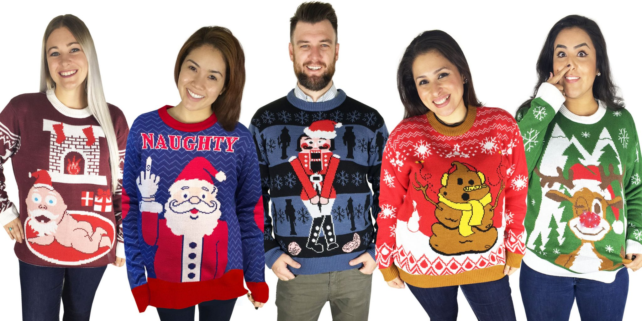 Ugly Sweaters on people